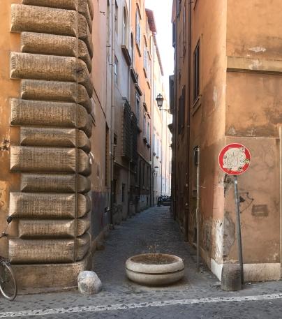 narrow italian street, off the main way