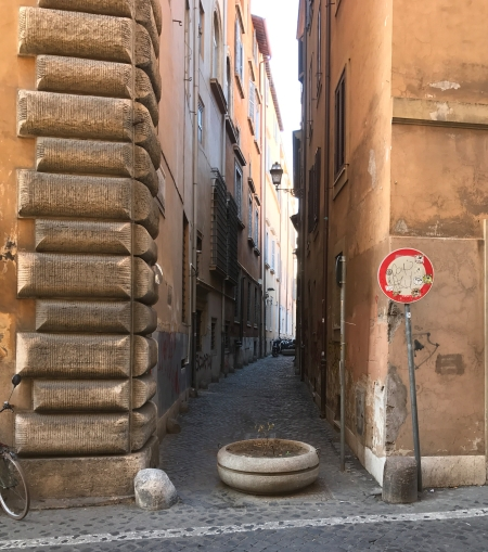 narrow italian street, off the main way